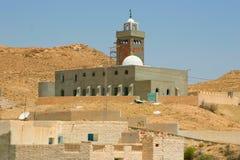 Mosquée dans l'oasis de désert Photos libres de droits