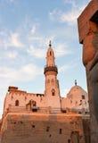 Mosquée dans le temple de Louxor au coucher du soleil images libres de droits