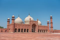 Mosquée de Badshahi, Lahore, Pendjab, Pakistan Images stock