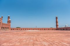 Mosquée de Badshahi, Lahore, Pendjab, Pakistan Images libres de droits