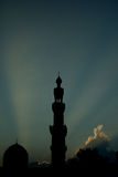 mosquée de crépuscule Images libres de droits