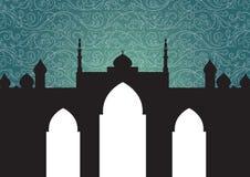 mosquée de fond illustration libre de droits