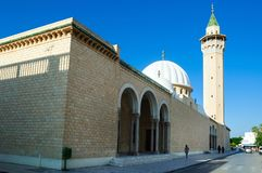 Mosquée de Habib Bourguiba, construite en l'honneur du premier président de la Tunisie, Monastir image libre de droits