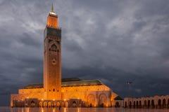 mosquée de hassan II Photographie stock