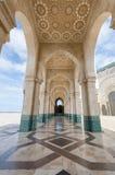 Mosquée de Hassan II de couloir, Casablanca images stock