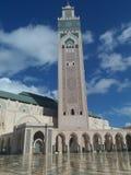 Mosquée de Hassan II pendant le coucher du soleil - Casablanca, Maroc 2 Casablanca 2018 photographie stock libre de droits