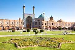 Mosquée de Jame Abbasi sur le grand dos de Naqsh-i Jahan images libres de droits