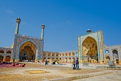 Mosquée de Jameh d'Isphahan image stock