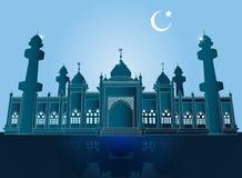 Mosquée de Jamiah à Pattani, Thaïlande, illustration de vecteur illustration de vecteur