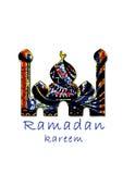 Mosquée de kareem de Ramadan avec la conception arabe de tente comme carte de voeux photo libre de droits