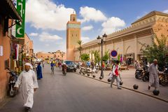 Mosquée de Koutoubia Marrakech morocco photo stock