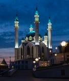 Mosquée de Kul Sharif à Kazan Kremlin au coucher du soleil kazan Photographie stock