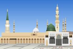 Mosquée de la Médina dans l'illustration de l'Arabie Saoudite illustration libre de droits