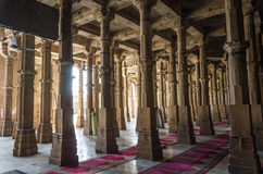Mosquée de masjid de Jama à Ahmedabad, Goudjerate Photographie stock libre de droits