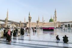 Mosquée de Nabawi, Medina, Arabie Saoudite Photos libres de droits