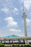 Mosquée de Natlonal en Kuala Lumpur Photographie stock