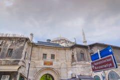 Mosquée de Nuruosmaniye près de bazar (fermé) de Kapali photos stock
