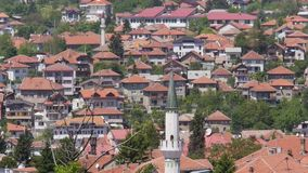 Mosquée de paysage de Sarajevo banque de vidéos