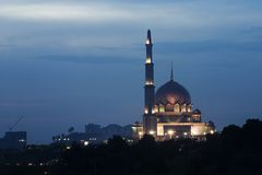 Mosquée de Putrajaya, Kuala Lumpur, Malaisie. Photos libres de droits