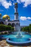 Mosquée de radar de surveillance aérienne Hassanil Bolkiah de ` de Jame, Brunei Images stock