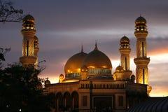 Mosquée de radar de surveillance aérienne Hassanil Bolkiah de Jamek Images libres de droits