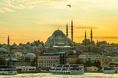 Mosquée de Suleymaniye Images libres de droits