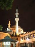 Mosquée de sultan d'Eyup la nuit, Istanbul, Turquie images libres de droits