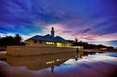 MOSQUÉE de VENDREDI DANS l'atoll d'Alifu Alif photo stock