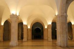 Mosquée du Roi Hussein Bin Talal à Amman (la nuit), Jordanie Photographie stock libre de droits