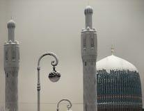 Mosquée en hiver Images libres de droits