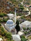 Mosquée et la vieille ville Pocitelj Images stock