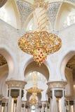 Mosquée grande Abu Dhabi - intérieur photos stock