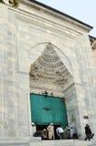 Mosquée grande d'entrée, Brousse, Turquie Photographie stock