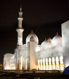 Mosquée grande dans la nuit Images libres de droits