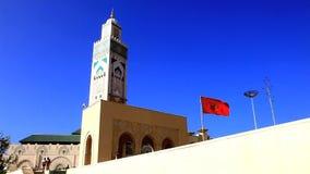 Mosquée grande de Hassan II banque de vidéos