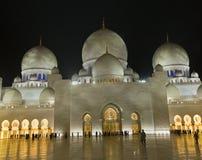 Mosquée grande en Abu Dhabi Image libre de droits