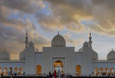 Mosquée grande en Abu Dhabi, EAU photos stock