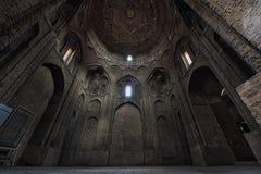 Mosquée intérieure de Jameh vendredi isphahan l'iran images stock