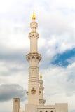 Mosquée islamique de monument d'héritage d'histoire à Abou Dabi Photographie stock libre de droits