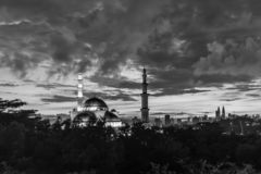 Mosquée Kuala Lumpur, Malaisie de territoire fédéral photo stock