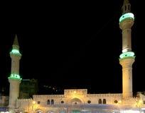 Mosquée la nuit à Amman, Jordanie Photo stock