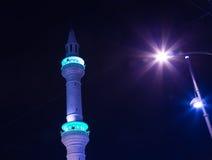 Mosquée la nuit à Amman, Jordanie Photographie stock