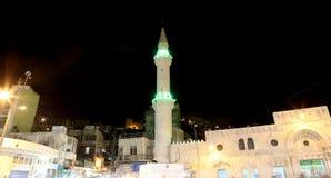Mosquée la nuit à Amman, Jordanie Images stock