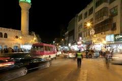 Mosquée la nuit à Amman, Jordanie Photographie stock libre de droits