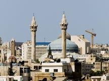 Mosquée neuve d'Amman Photo libre de droits