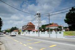 Mosquée ou Masjid Tengkera de Tranquerah Photographie stock libre de droits