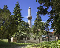Mosquée sur la colline dans Belogradchik bulgaria photo stock