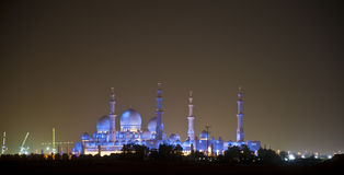 Mosque. This is the sheikh zayed mosque that was build in his memory in Abu Dubai in United arab emirates Stock Image