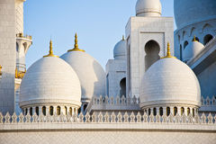 Mosque. This is the sheikh zayed mosque that was build in his memory in Abu Dubai in United arab emirates Royalty Free Stock Photos