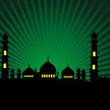 Mosque. Front view of silhouette of a mosque Stock Photos
